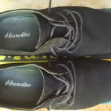 Pantofi piele intoarsa - Pantofi barbati, Negru