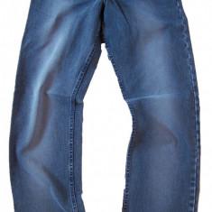 Blugi barbati clasici albastri prespalati MOTTO jeans W 31 (Art.023), Culoare: Albastru