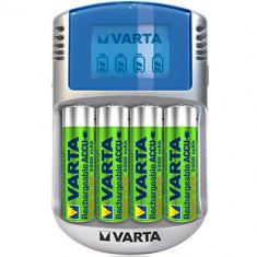 Baterie Aparat foto - Incarcator cu LCD Varta Fast Charger cu acumulatori 4x2400mAh R06