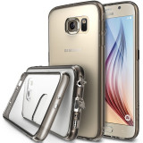 Husa Samsung Galaxy S6 Ringke+BONUS folie protectie display Ringke, Transparent