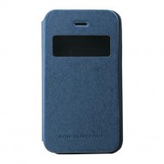 Husa Atlas, Albastru, Piele Ecologica, Toc - Toc My-Wow iPHONE 4/4S Albastru