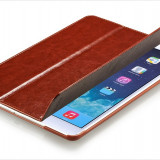 Husa/toc piele fina Xoomz, iPAD AIR, smart cover, culoare MARO CONIAC, LUX - Husa Tableta, iPad Air