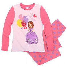 Pijama maneca lunga 2-8 ani, Sofia the First 118590 corai, Marime: Alta, Culoare: Multicolor