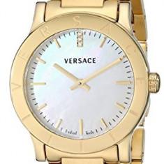 Versace Women's VQA050000 Acron Diamond-Accented Gold-Plated | 100% original, import SUA, 10 zile lucratoare af22508 - Ceas dama