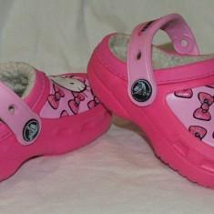 Papuci copii CROCS HELLO KITTY - nr 23 / 24, Marime: 23.5, Culoare: Din imagine