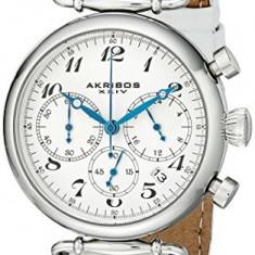 Akribos XXIV Women's AK630SSW Retro Silver-Tone | 100% original, import SUA, 10 zile lucratoare af22508 - Ceas dama