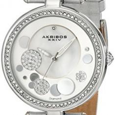 Akribos XXIV Women's AKR434SL Diamond Silver | 100% original, import SUA, 10 zile lucratoare af22508 - Ceas dama