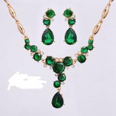 Set filat in aur de 18 k cu cristale austriene - Set Swarovski