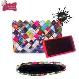 Portofel ECO multicolor din hartie / reviste (18, 5 x 11, 5 cm) - Geanta handmade