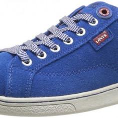 Adidasi originali LEVIS - in cutie - din piele - adidasi barbati- 40, 41, 42, Culoare: Albastru, Piele naturala