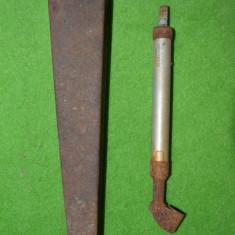 Manometru de control pentru presiunea din pneuri, vechi, vintage, anii '60