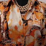 Costum dama Escada, Costum cu bluza - ESCADA ORIGINAL COMPLEU MATASE NATURALA NR 44