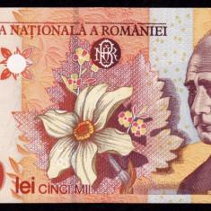 ROMANIA, 5000 LEI 1998, aUNC_filigran BNR mare