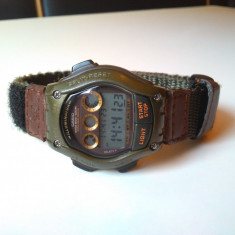 Ceas vintage casio FTL-111H, modul 2144, Original. - Ceas barbatesc Casio, Sport, Quartz, Cronograf, Electronic, 1970 - 1999