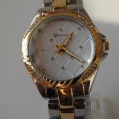 GENEVA ceasuri AURIU +ARGINTIU dama + CUTIE CADOU ceas gen guess CE134 - Ceas dama