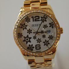 Ceas de Dama Geneva - JESSY ceasuri AURIU +ARGINTIU dama + CUTIE CADOU ceas gen guess CE129