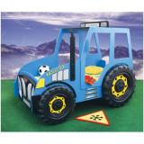 Patut In Forma De Tractor - Plastiko - Albastru