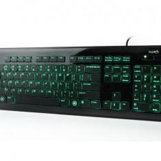 Tastatura Natec Zander iluminata, USB 2.0, neagra, RUS