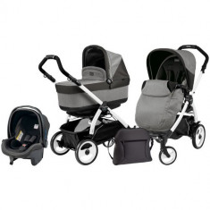 Carucior 3 in 1 Book Plus 51 Black White POP-UP Atmosphere - Carucior copii 2 in 1 Peg Perego