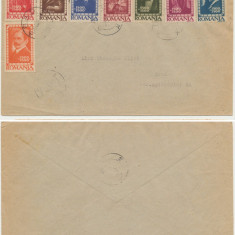 RFL Romania 1947 Institutul de Studii cu Rusia serie stampilata pe plic suvenir