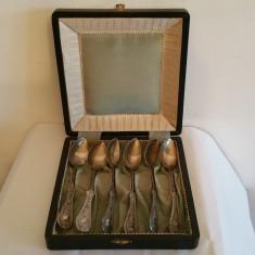 Lingurite argint - Austria sec 19 - cutie originala, Tacamuri