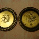 FARFURII DECORATIVE ALAMA - 2 buc ; diametru = 16.50 cm - Metal/Fonta, Vase