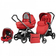 Carucior 3 in 1 Book Plus S Black Completo SL Sunset - Carucior copii 2 in 1 Peg Perego