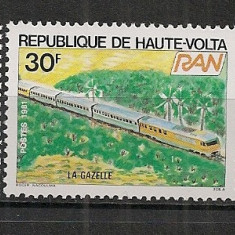 Timbre straine, Nestampilat - Volta Superioara.1981 Locomotive SV.141