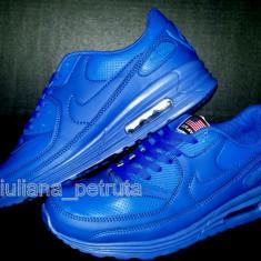 Adidasi barbati Nike, Piele sintetica - Adidasi nike air max albastru impermeabil 90 hyperfuse nr. 41, 43, 44