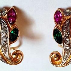 Deoasebiti Cercei placati cu aur, ornamentati cu diferite cristale