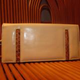 Poseta vintage aplicatt piele crocodil frumoasa - Geanta vintage