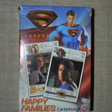 Colectii - Joc de carti Happy Families, Superman returns, 4 in 1, complet, cu instructiuni