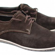 Pantofi barbati sport - casual din piele naturala intoarsa - Made in Romania