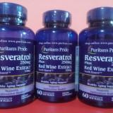 RESVERATROL 250 mg, 60 capsule, antioxidant foarte concentrat, cel mai mic pret - Vitamine/Minerale