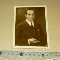 Fotografie veche - barbat - portret - tigara - 1920? - 2+1 gratis - RBK10992