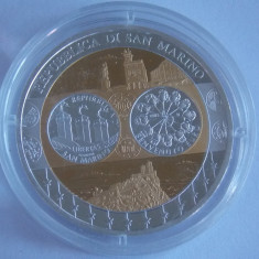 Monede Straine, Europa - Moneda argint suflata cu aur San Marino 2002 UNC