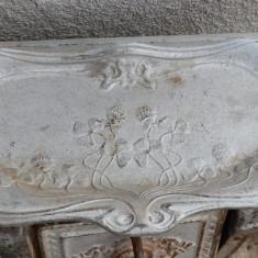 Metal/Fonta, Ornamentale - Tava fonta pentru soba model vechi, redus