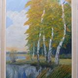Peisaj cu margine de lac - semnat B.Ferwerda - Pictor strain