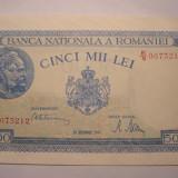 5000 lei 1945 Decembrie UNC