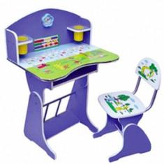 Birou cu scaunel reglabil ROZ/ALBASTRU - Masuta/scaun copii