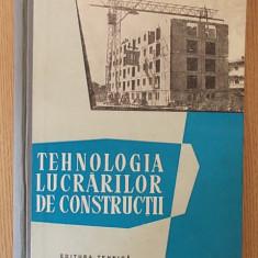 TEHNOLOGIA LUCRARILOR DE CONSTRUCTII- EMANOIL FLORESCU, NEGRU, BOGDAN- CARTONATA - Carti Constructii