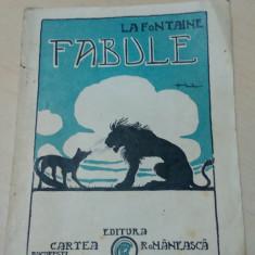 Fabule - La Fontaine/ contine ilustratii de Marin Iordache - Carte Fabule