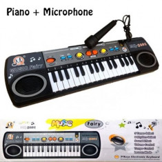 Instrumente muzicale copii - Orga cu microfon pentru copii Music Fairy
