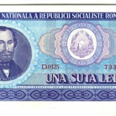 Bancnote Romanesti - BANCNOTA 100 LEI 1966 STARE UNC