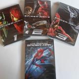 Pachet 4 filme MARVEL: THE AMAZING SPIDER-MAN; SPIDER-MAN 1; 2; 3 (Nou, Sigilat) - Film actiune, DVD, Engleza