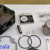 Kit Cilindru / Set motor + Piston + Segmenti Scuter Piaggio / Piagio Typhoon / Sfera / TPH / Storm / Diesis ( 80cc - racire aer - W Standard )