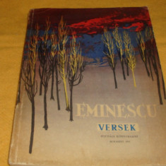 Eminescu - Versek ( Poezii ) - ed Tineretului 1962 - in maghiara - ilustratii Perahim - Carte educativa