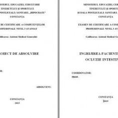 LUCRARE DE LICENTA A.M.G. - INGRIJIREA PACIENTILOR CU OCLUZIE INTESTINALA (1) (+ prezentare Power Point)