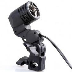 Echipament Foto Studio, Stative lumini - Menghina cu suport pentru umbrela si Dulie tip E27 pentru stativ, reglabil, lumini de studio, stativ lumini cu dulie E27.