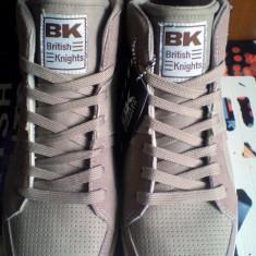 Adidasi/Tenisi British Knights Royal 44 -produs original- IN STOC - Tenisi barbati, Culoare: Maro, Piele intoarsa